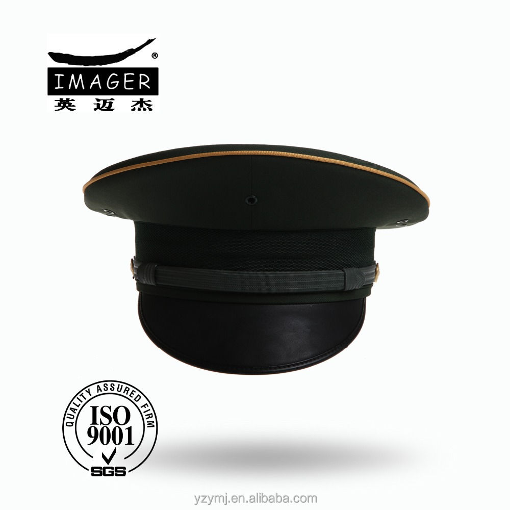 Customized Air Defence Forces Republican Marshal Hat with Black Strap for Military Use