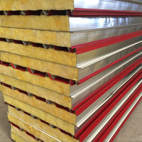 ISO european standard cost effective zinc or aluzinc coated glasswool sandwich panels as steel Exterior wall of building
