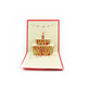 Creative Laser Cut Handmade Foldable 3D Pop Happy Birthday Greeting Card Invitation Cards