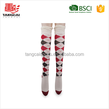 Wsp-27 2015 China Suppliers Custom Popular Women Knee High Socks ...