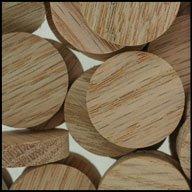 "WIDGETCO 1"" Oak Wood Plugs, Face Grain"