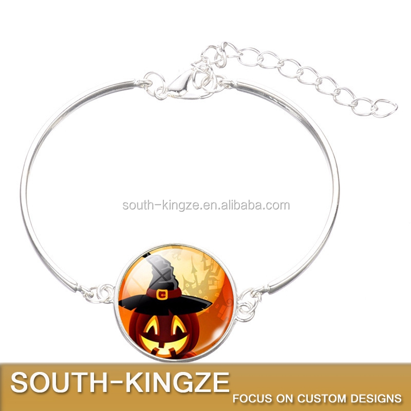 New arrival plated antique and silver Halloween metal bracelet