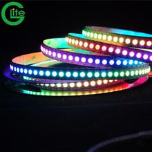Ws2812b LED <span class=keywords><strong>Strip</strong></span> Secara Individual Digital Addressable <span class=keywords><strong>Pixel</strong></span> RGB LED <span class=keywords><strong>Strip</strong></span> 60 LED/M 144 Leds/Mw