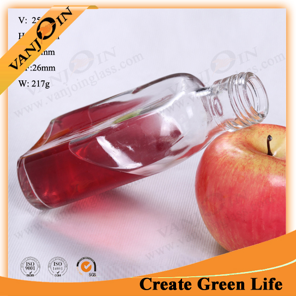 Portable Wine Container Glass Bottle For Vodka Whisky