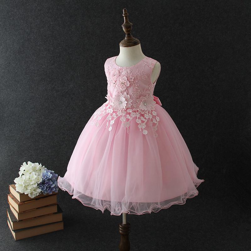 bfd719e1f5c Beautiful flower girl dresses Vietnam pink Angel baby girls birthday party  dress puffy ball gown wedding
