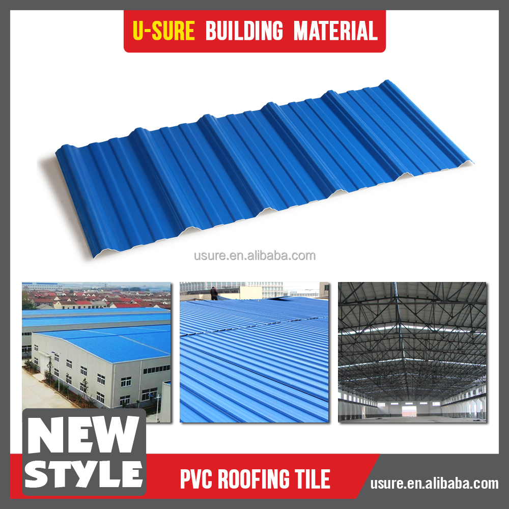 Wave design plastic roof tiles in kenya