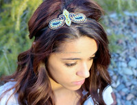 Baby girl butterfly headbands,new knit braided headband,pictures of hair headbands