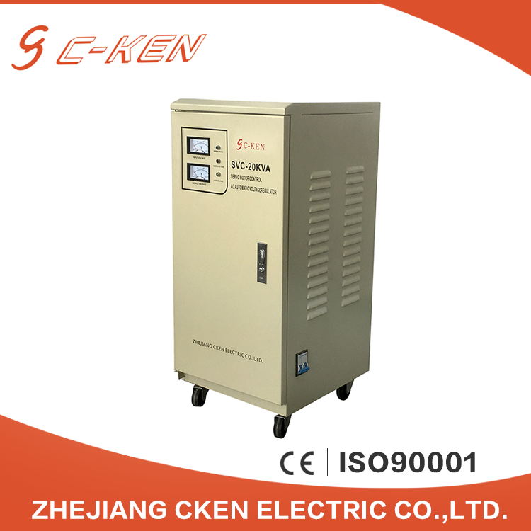 China Suppliers 20Kva Single Phase Servo Motors Electronic Voltage Regulator 20Kw Voltage Stabilizer For Home
