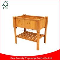 Customized factory wholesale price Manufacturing Wood Leisure Season flower Raised Planter Box