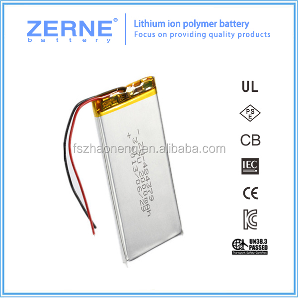 ZN484379 rechargeable 2000mAh battery for electronic toys