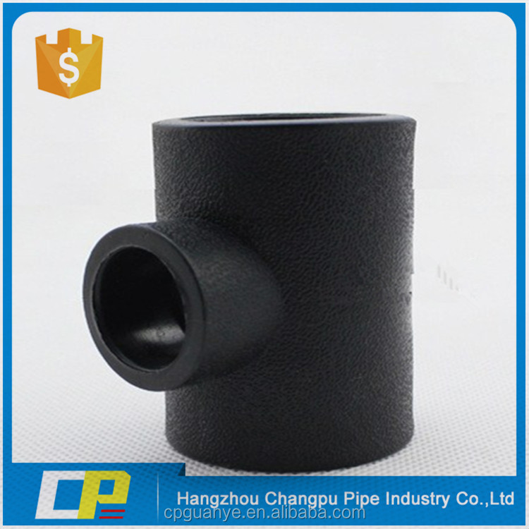 All sizes available HDPE pipe fittings socket welding reducing tee