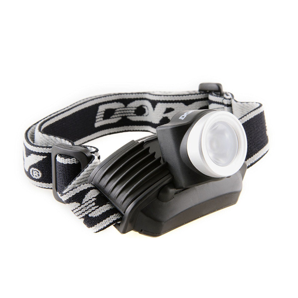 Dorcy 120-Lumen Weather Resistant Broad Beam LED Headlight Flashlight with (3) Brightness Modes, Black and Silver (41-2096)