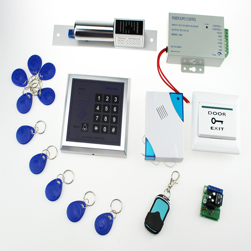 13.56MHz door access control system products RFID keypad+DC12V power supply
