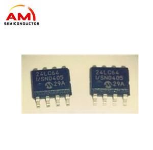24LC64T-I/SN Memory Chip EEPROM Serial-I2C 64K-bit 8K x 8 8-Pin new and  original stock