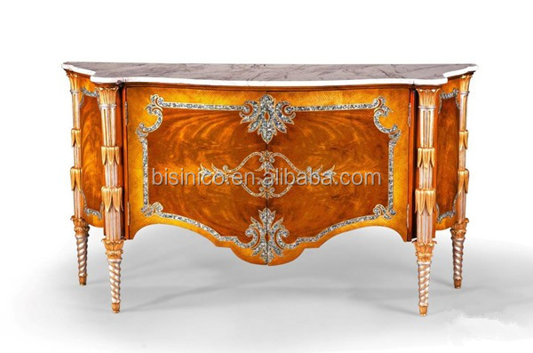 Gold Gilding Wooden Curio Cabinets With Flowers Paint Motif ...