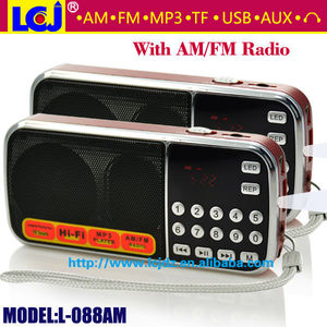 L-088AM 2018 best multi band cheap portable AM FM radio with USB SD