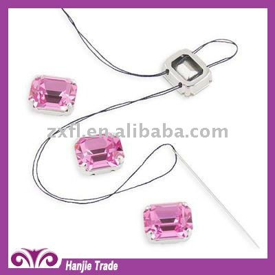 Monted Rose Rectangle Crystal Strass in Sew-on Settings