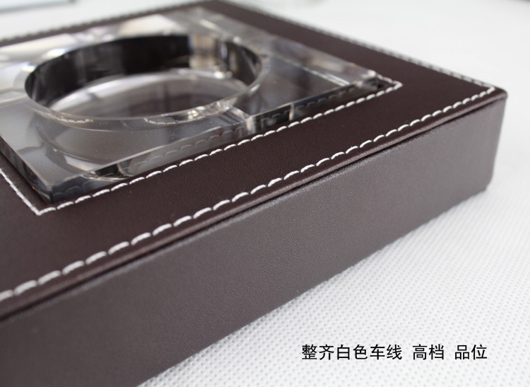Leather ashtray ashtray / hotel / Office / desk ashtray ashtray