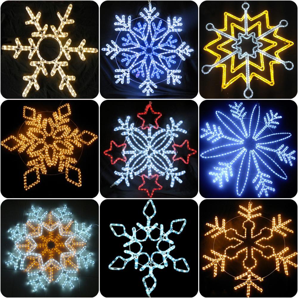 led acrylic snowflake