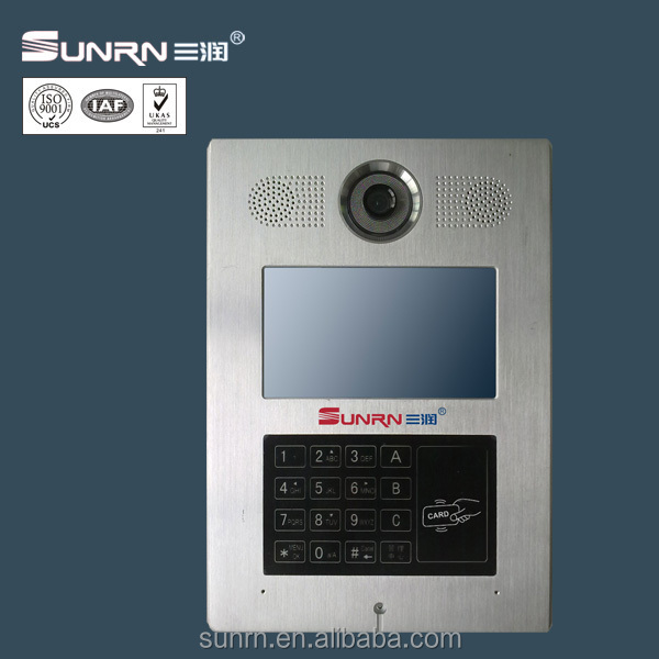 7 inch color tft lcd,energy saving,DND function, video door phone intercom system