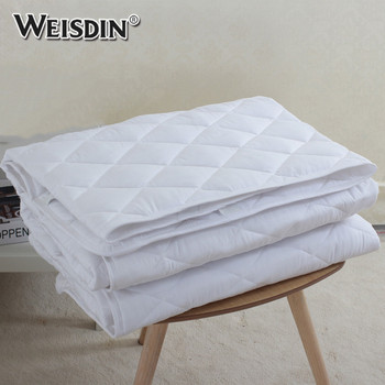 Hotel Quilted Mattress Pad Protector Cover Hypoallergenic King Size