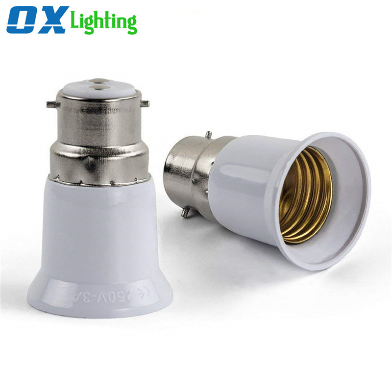 B22 to E27 Adapter Converter Socket Lamp Holder for LED Bulb Lamp