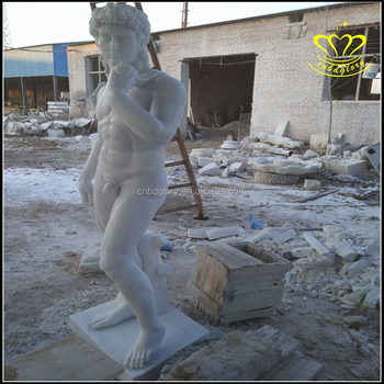 World Famous Stone Carving Sculpture Garden Marble David Statue For Sale