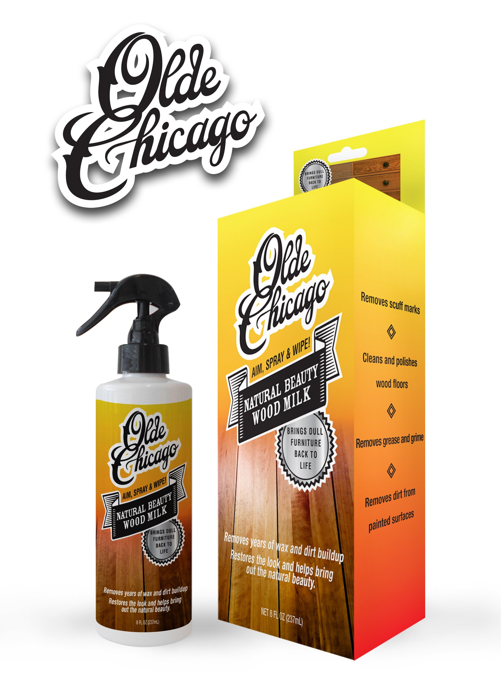 Get Quotations Olde Chicago Wood Cleaner And Polisher Milk Removes Scuff Marks Safe For
