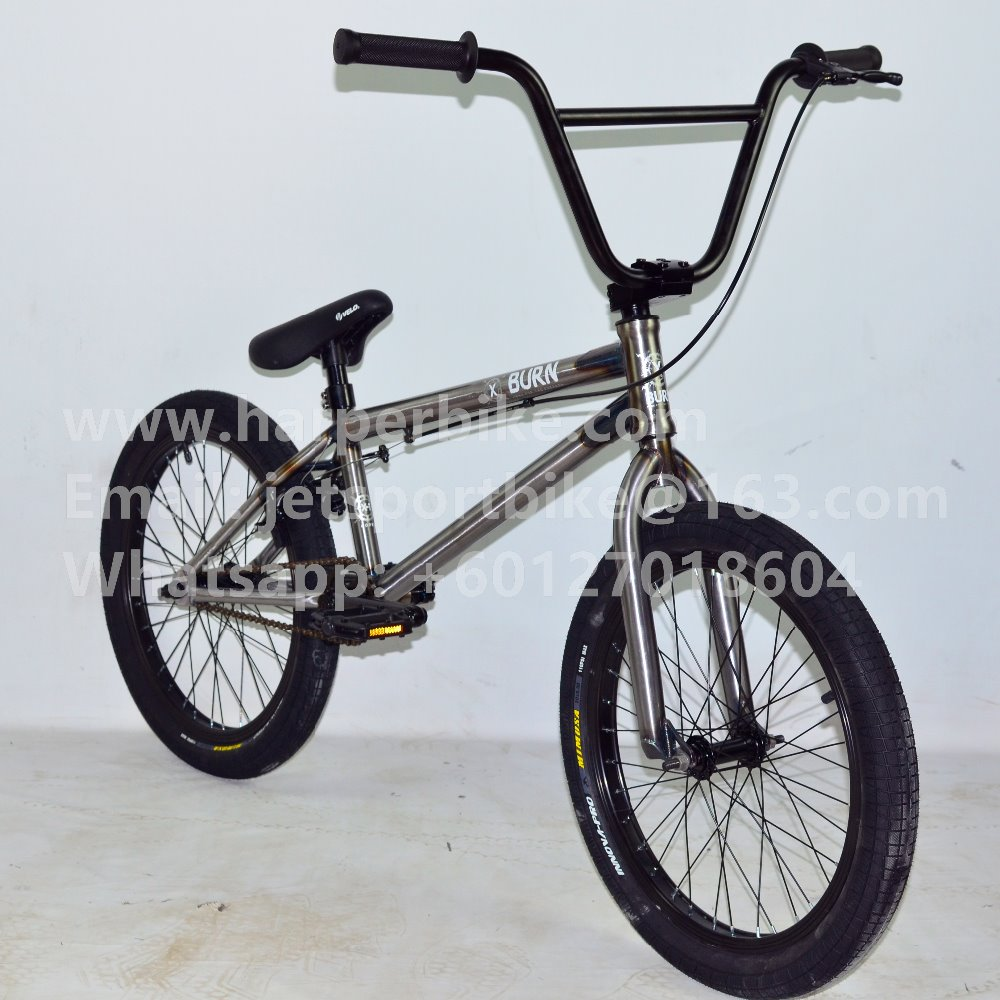 Oil Slick BMX 20 inch freestyle bicycle raw color