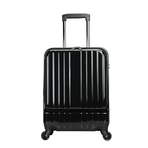 business style carrying on bright pc black luggage case