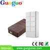 Professional manufacture portable mobile battery charger chocolate Portable charger Power Bank 4000mah