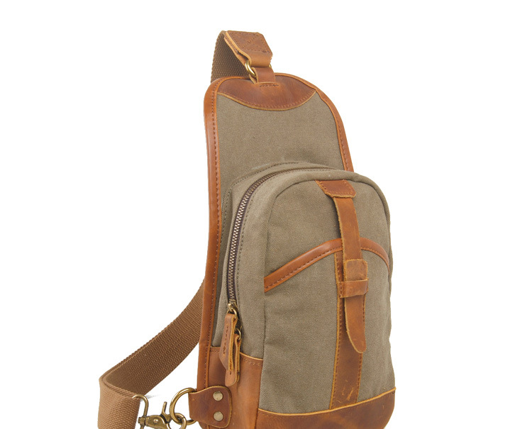 OEM custom canvas single shoulder backpack