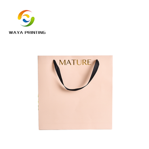 Cheap garment gift carry customised paper bags with logo printing
