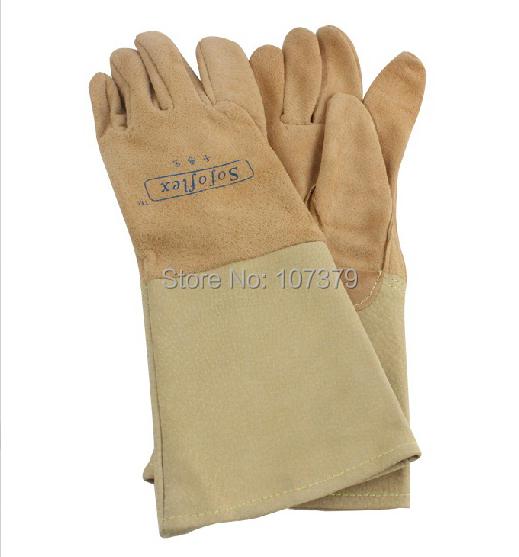 X-Large Bob Dale 60-9-650-XL Grain Leather Winter Welder Glove with Split Back Palm Lining Grey