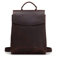 In Stocks Vintage crazy horse genuine Leather Backpack custom mens travel backpack