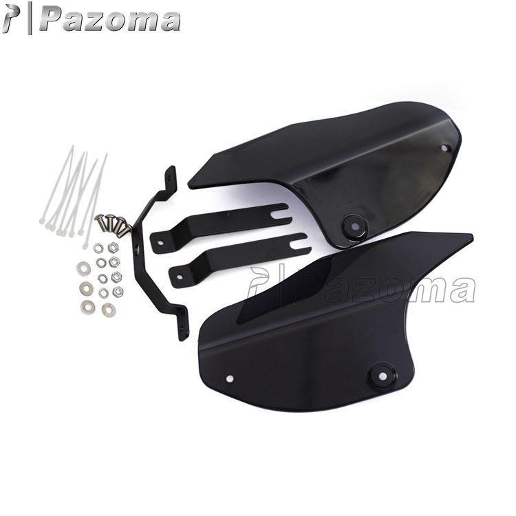 Contoured Polycarbonate Panels ABS Black Motorcycle Parts Wind Deflector Windshield For 00-16 Softail Models