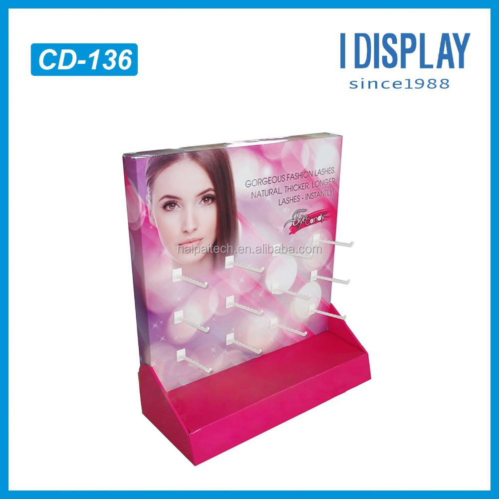 Small PDQ Cardboard Counter Display For Lash Brush