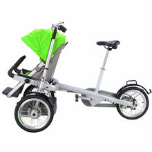 Mother And Baby Bicycle 3 Wheels Trailer Kids Stroller Bike