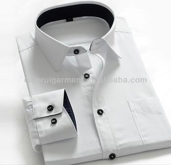 7c0d057721da wholesale clothing garment mens white shirt latest 100%cotton men's shirt  QR-2407