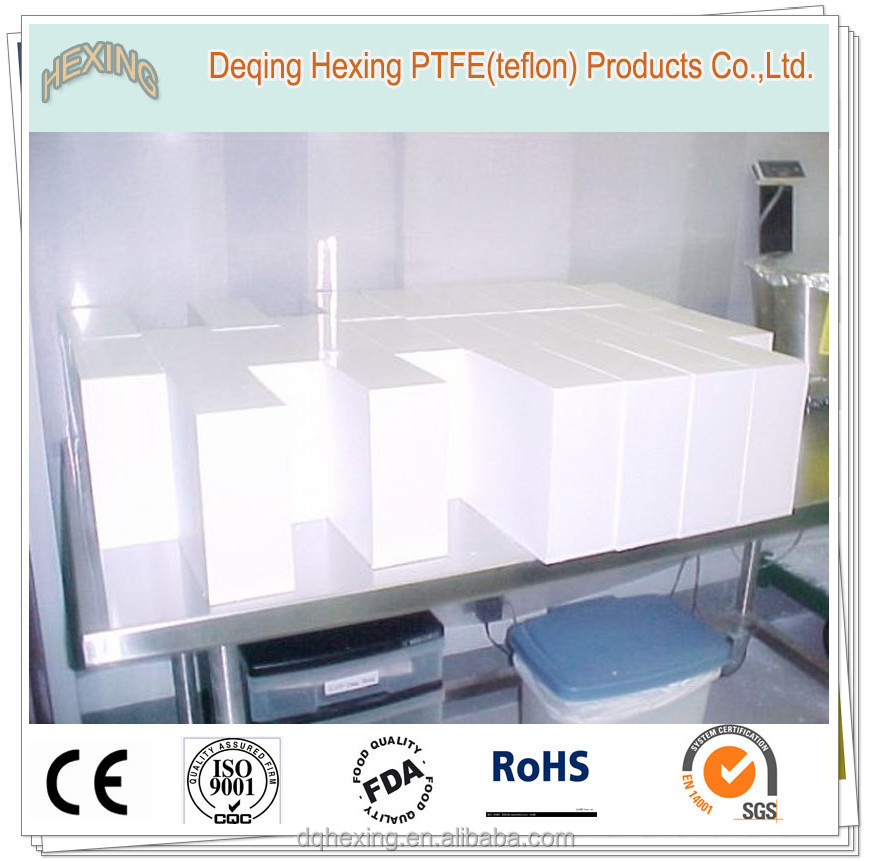 white virgin plastic teflon slab