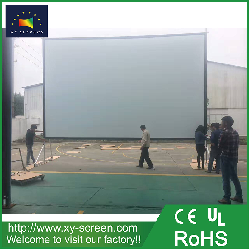 XYSCREEN HD ultra large customized size fast fold and portable projector screen with flight case