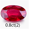 wholesale oval 0.8ct red natural rough gem stones ruby loose stone fine jewelry