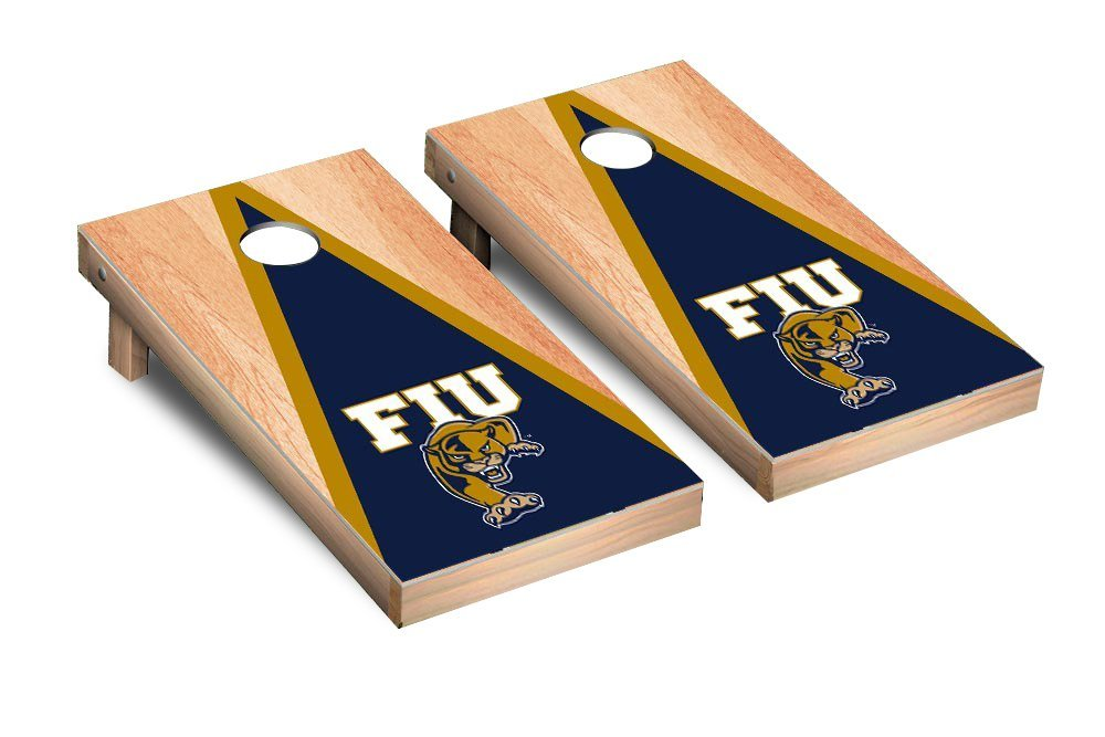NCAA Florida International University FIU Panthers Hardcourt Triangle Version Cornhole Set