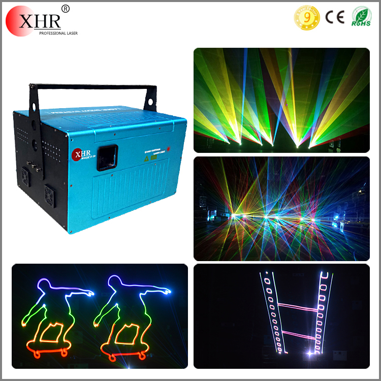 DMX/ILDA RGB Full Color 10watts Stage Home Party Laser Light For Show