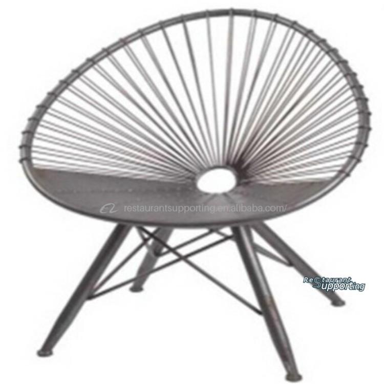 Hot Sale Fan Shaped Wire Mesh Metal Outdoor Chair - Buy Mesh Chair ...
