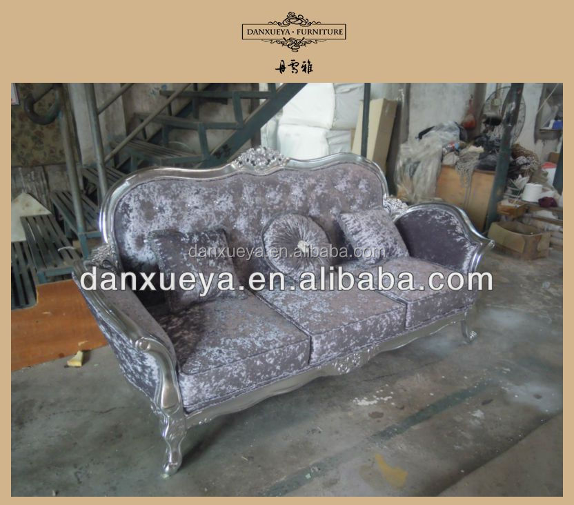 Sofa with footrest, oak wood carving sofa sets, sofa fabric names DXY-839#