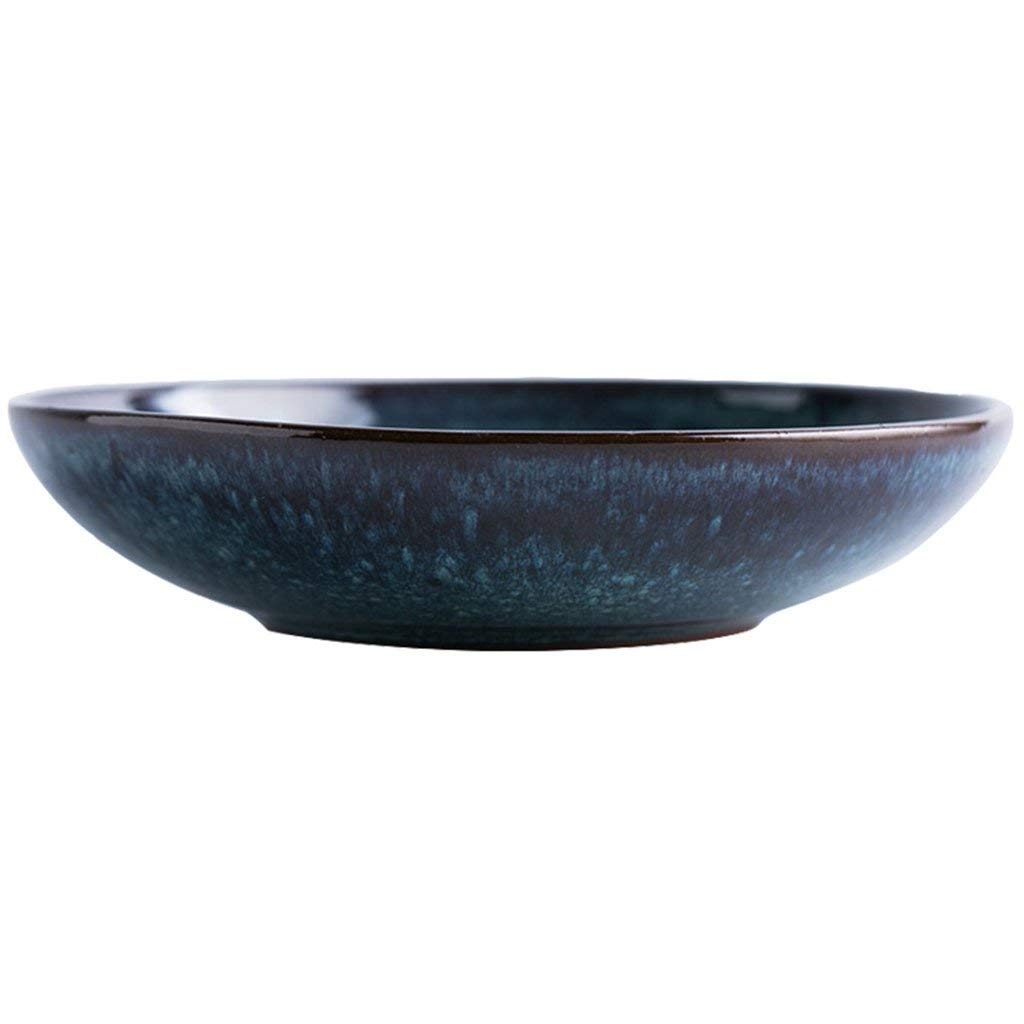 Salad plate Ceramic Noodle Bowls Pasta Bowls Soup Bowls Home Garden Kitchen Cooking Dining Tableware Dishware Serving Pieces Bowls Japanese style Rice Bowls blue (Size : 150ml)