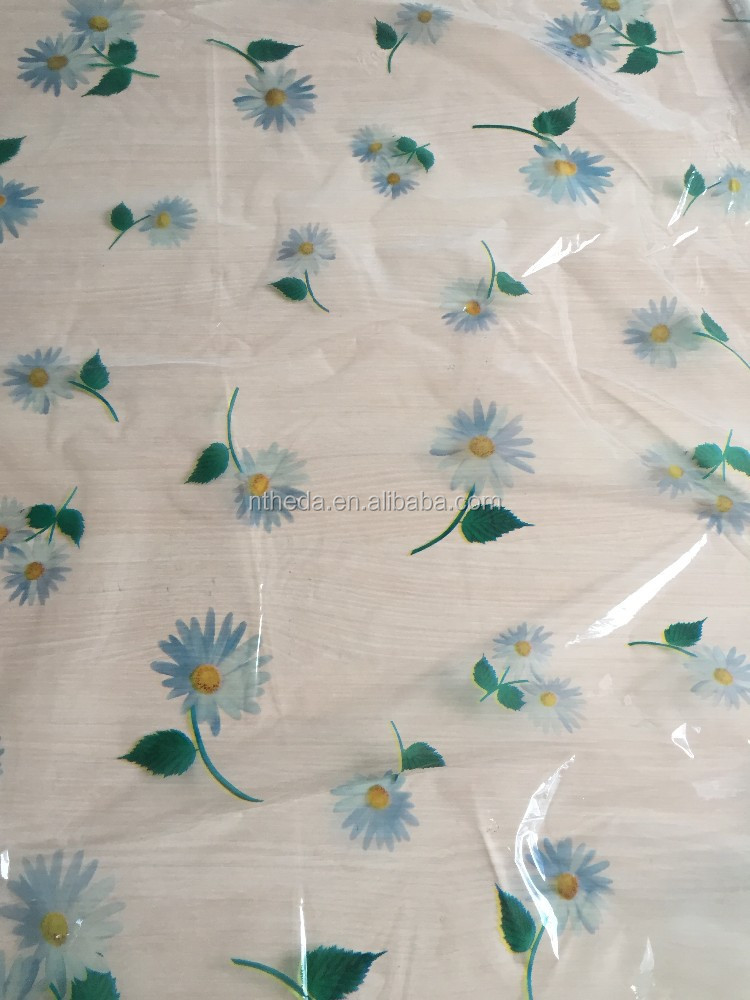 pvc clear printing designs factory price plastic table cloth table cover