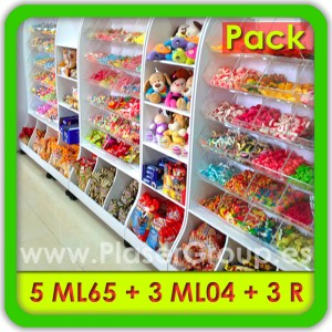 Candy displays Set of furniture for Candy Shops