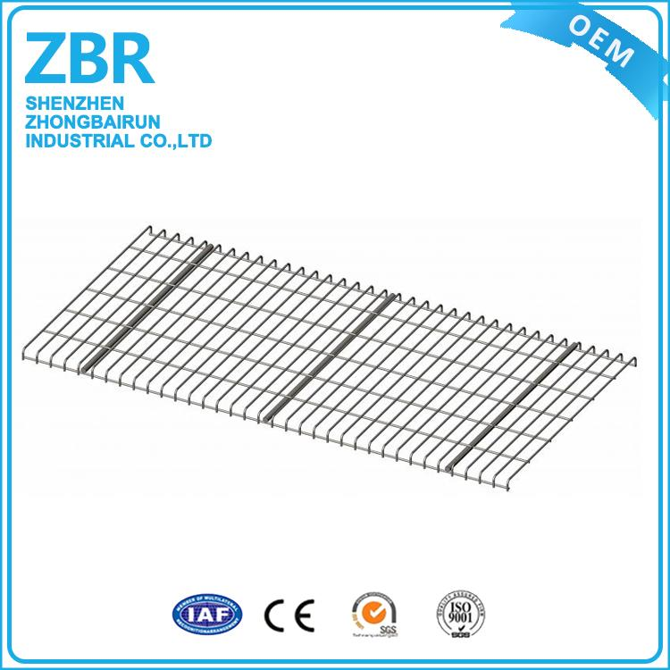 Hot dipped galvanized flare channel heavy duty warehouse wire mesh decking for step beam and rack